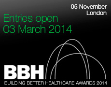 Building Better Healthcare Awards.  Be there 5th November.