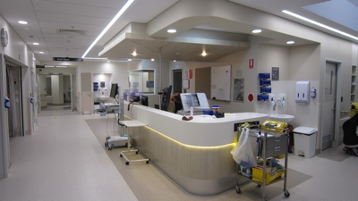 picture of Sandringham Hospital installs antimicrobial copper rails and light fittings