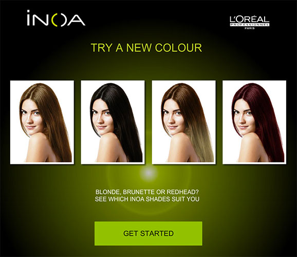 LOreal App Plays With Colour - Hairstyle colour app