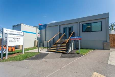 picture of The Princess Alexandra Hospital in Harlow commissioned Portakabin to deliver an interim ward to meet the demand for extra beds this winter