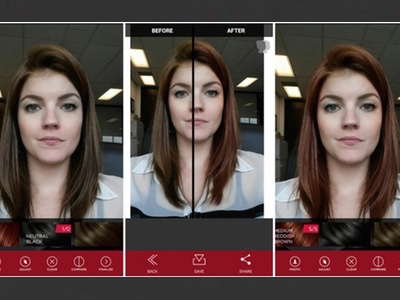 Vidal Sassoon Develops Hair Colour Trial App - Hairstyle colour app