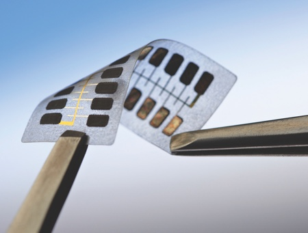 picture of Thinfilm 20-bit Memory Label. Courtesy: Thinfilm Electronics