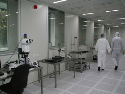 picture of Part of the quality and cleanliness competence centre built by Fraunhofer IPA