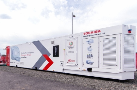 Transportable MRI scanner equipped with high-tech Toshiba