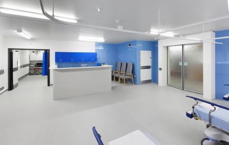 Altro wall cladding used in ground breaking clinical design for Unity 3d room design