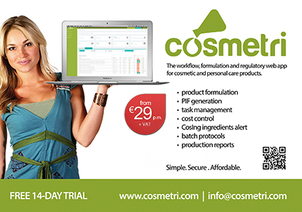 Cosmetri web-app simplifies E U  compliance for SMEs