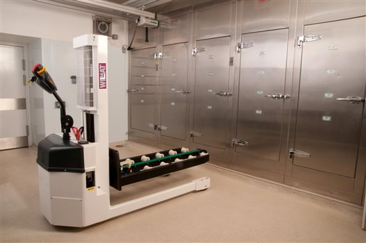 Upgrade for mortuary lifting equipment