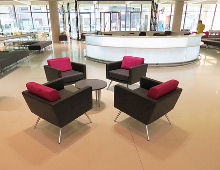 modern furniture brings a hotel feel to new london cancer centre